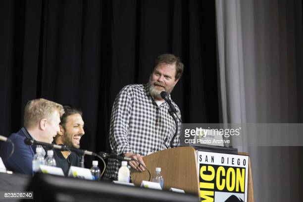 """Moderator and Cast Member, Rainn Wilson during the """"Star Trek: Discovery"""" panel at Comic-Con 2017, held in San Diego, Ca."""