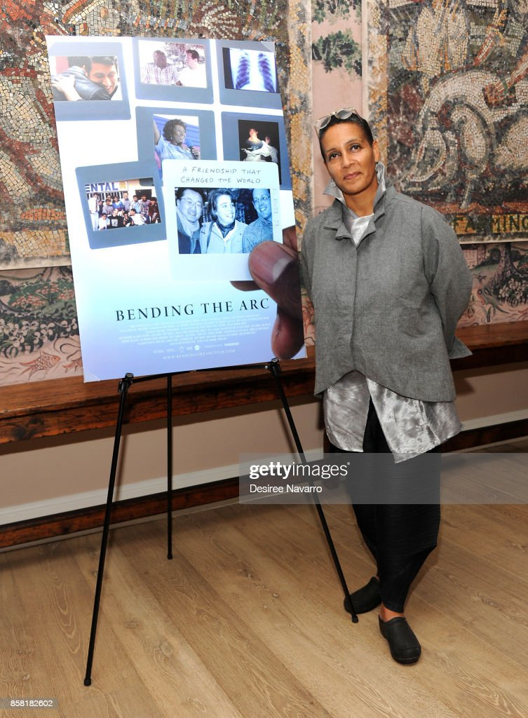 Moderator and Director of Documentary Film Program at Sundance Institute, Tabitha Jackson attends 'Bending The Arc' New York Screening at the Whitby Hotel on October 5, 2017 in New York City.