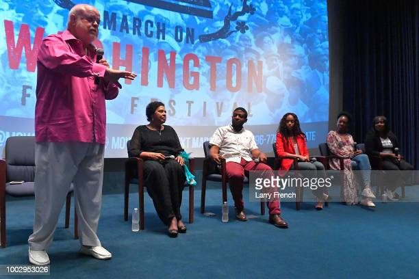 Director and Producer 'I Am Dick Gregory' Andre Gaines and Valerie Edwards appear in a panel during Civil Rights and Comedy the Unforgettable Dick...