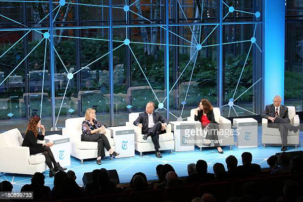 Moderator and New York Times OpEd columnist Tina Rosenberg speaks with Digital Promise CEO Karen Cator 20 Million Minds Foundation President Dean...