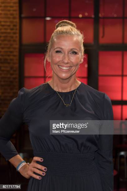 Moderator Andrea Kiewel attends the 'Koelner Sommer Treff' TV Show at the WDR Studio on July 24 2017 in Cologne Germany