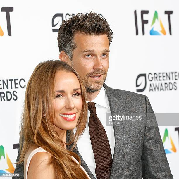 Moderator Annemarie Carpendale and her husband german actor Wayne Carpendale attend the Green Tec Award at ICM Munich on May 29 2016 in Munich Germany