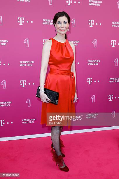 TV moderator Annette Eimermacher attends the Telekom Entertain TV Night at Hotel Zoo on April 28 2016 in Berlin Germany