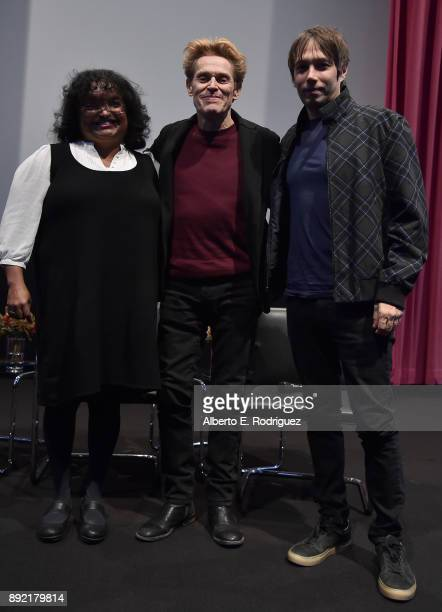 Moderator Bambi Haggins director Sean Baker and actor Willem Dafoe attend the Hammer Museum Presents The Contenders 2017 The Florida Project at The...
