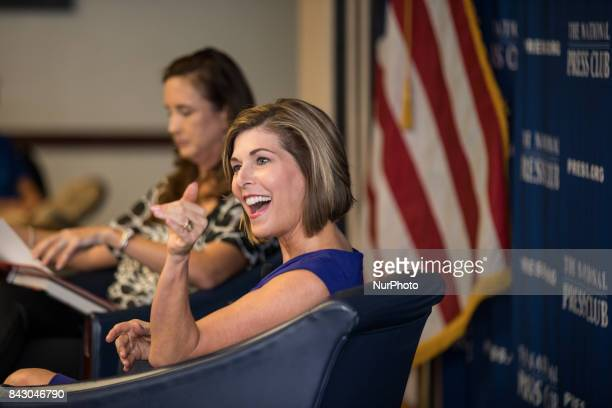 Moderator Betsy Fischer Martin CoChair of the NPC Headliners Committee appears with former CBS News Correspondent Sharyl Attkisson author of The...