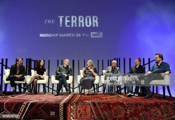 Moderator Bill Desowitz creator David Kajganich writer Soo Hugh actor Jared Harris Costume Designer Annie Symons Production Designer Jonathan...