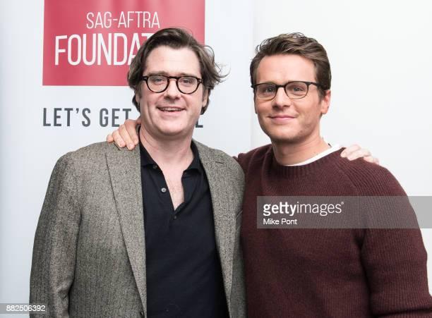 Moderator Bill Keith and Actor Jonathan Groff attend the SAGAFTRA Foundation Conversations 'Mindhunter' at SAGAFTRA Foundation Robin Williams Center...