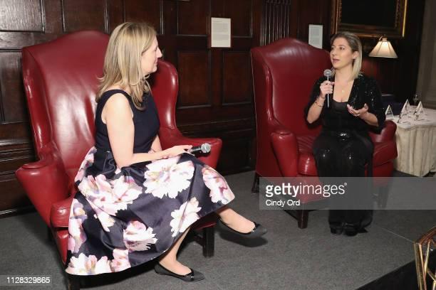 Moderator Bonita Thompson and Jenna Blaha speak onstage during the GC4W Entrepreneurship Ball at The Harvard Club on March 1 2019 in New York City
