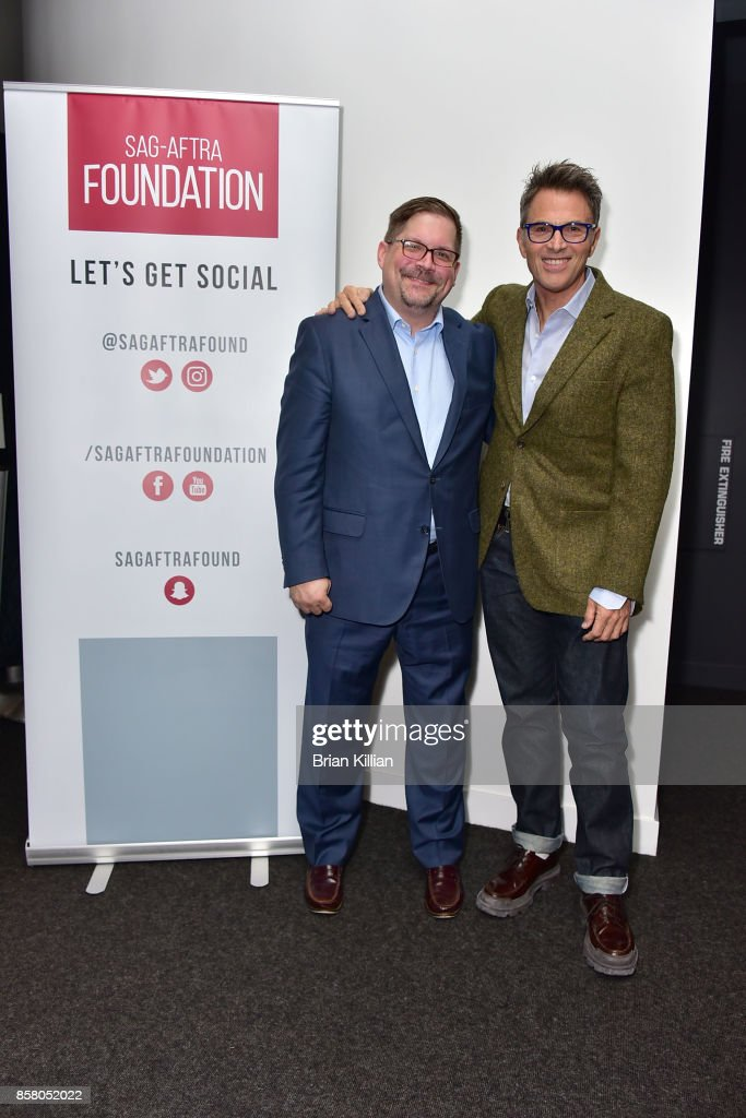 Moderator Bruce Fretts and actor Tim Daly speak during the Q&A portion of the AG-AFTRA Foundation Conversations: 'Madam Secretary' + Tim Daly at The Robin Williams Center on October 5, 2017 in New York City.