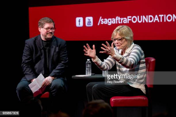 Moderator Bruce Fretts with Jane Curtin as they discuss her career during the SAGAFTRA Foundation Conversations Career Retrospective with Jane Curtin...