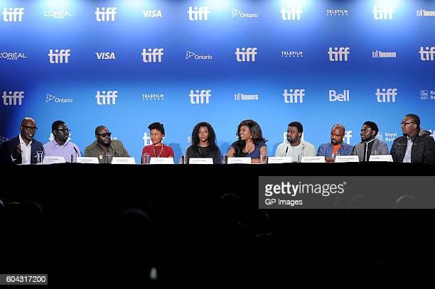 Moderator Cameron Bailey directors Niyi Akinmolayan Abba Makama actors Omoni Oboli Genevieve Nnaji director Kemi Adetiba actor Kunle Afolayan...