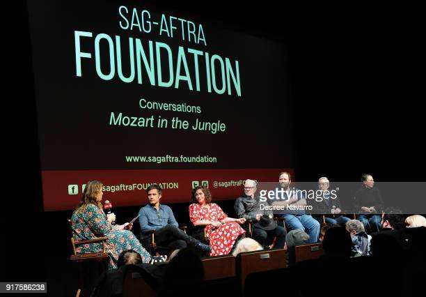 Moderator Carla Sosenko actors Gael Garcia Bernal Lola Kirke Malcom McDowell showrunner Will Graham director Paul Weitz and executive producer...