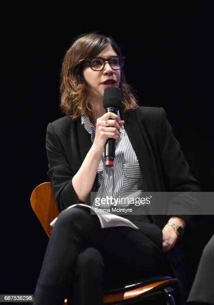 Moderator Carrie Brownstein speaks onstage at the Full Frontal with Samantha Bee FYC Event 2017 LA at the Samuel Goldwyn Theater on May 23 2017 in...