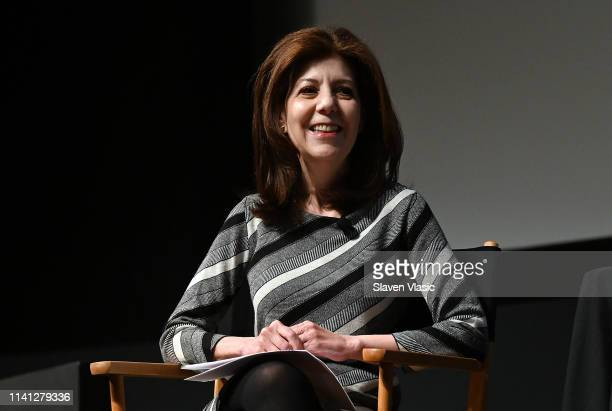Moderator Caryn James attends panel for New York premiere of SundanceTV's new TV series State Of The Union screening at Tribeca Film Festival at SVA...