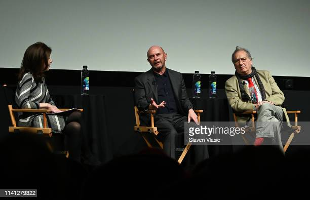Moderator Caryn James writer/executive producer Nick Hornby and director/executive producer Stephen Frears attend panel for New York premiere of...