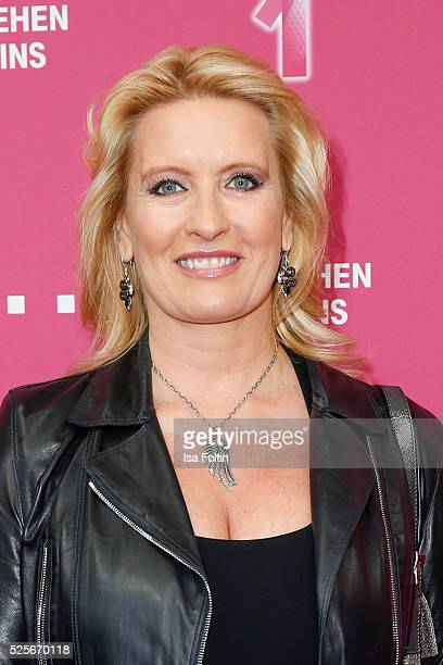 TV moderator Claudia Kleinert attends the Telekom Entertain TV Night at Hotel Zoo on April 28 2016 in Berlin Germany
