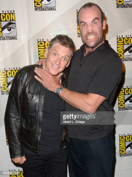 Moderator Craig Ferguson and actor Rory McCann attends HBO's Game Of Thrones panel and QA during ComicCon International 2014 at San Diego Convention...