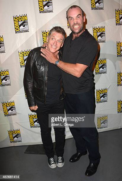 Moderator Craig Ferguson and actor Rory McCann attends HBO's 'Game Of Thrones' panel and QA during ComicCon International 2014 at San Diego...