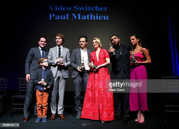 Moderator Dave Karger Actor Jacob Tremblay Actor Paul Dano Actor Geza Rohrig Actress Elizabeth Banks Actor O' Shea Jackson Jr and Actress Alicia...