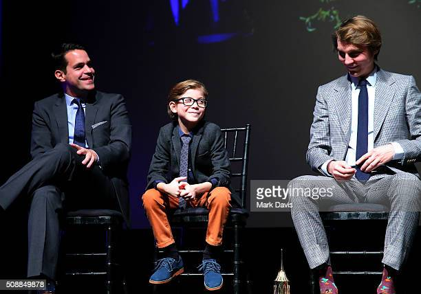 BARBARA CA FEBRUARY Moderator Dave Karger Actor Jacob Tremblay and Actor Paul Dano speak at the Virtuosos Award at the Arlington Theater at the 31th...