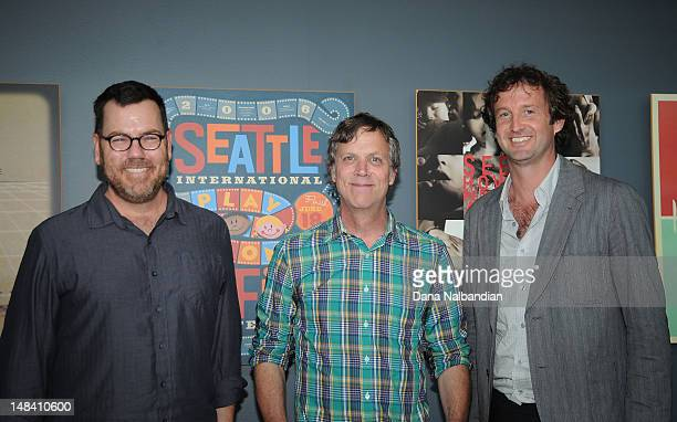 Moderator Dave Schmader director Todd Haynes and Sundance Film Festival director Trevor Groth at the Sudance Institute Seattle Shorts Lab at SIFF...