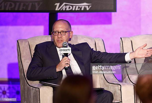 Moderator David Messinger CoHead CAA Marketing Creative Artists Agency speaks during the 'Chief Marketing Officer Roundtable' panel at Variety...
