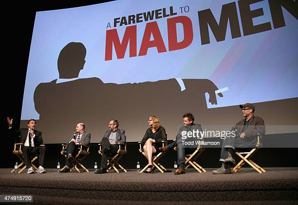 Moderator David O Russell directors Matthew Weiner Scott Hornbacher Jennifer Getzinger Michael Uppendahl and Chris Manley speak onstage during the...