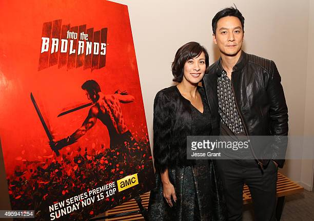 Moderator Diana Lee Inosanto and actor Daniel Wu attend AMC and CAPE Celebrate Into The Badlands at the Japanese American National Museum on November...