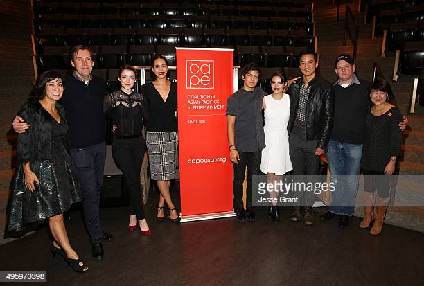 Moderator Diana Lee Inosanto producer Miles Millar actors Sarah Bolger Madeleine Mantock Aramis Knight Ally Ioannides and Daniel Wu producer Al Gough...