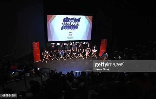 Moderator Diana Lee Inosanto producer Miles Millar producer Al Gough actors Daniel Wu Aramis Knight Sarah Bolger Madeleine Mantock and Ally Ioannides...