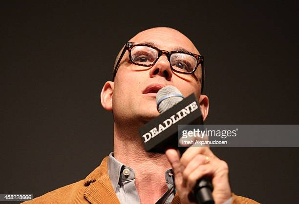 Moderator Dominic Patten speaks onstage during Deadline's The Contenders at DGA Theater on November 1 2014 in Los Angeles California