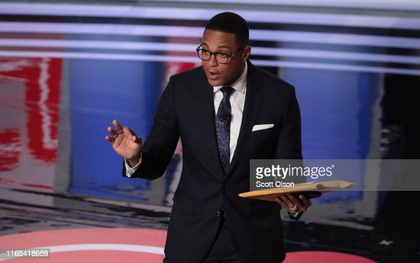 CNN moderator Don Lemon speaks to the crowd attending the Democratic Presidential Debate at the Fox Theatre July 31 2019 in Detroit Michigan 20...