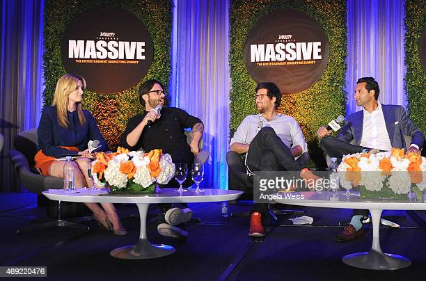 Moderator Elizabeth Wagmeister of Variety Joseph Assad of PMK BNC Thomas Benski of Pulse Films and Jonathan Perelman of BuzzFeed Motion Pictures...