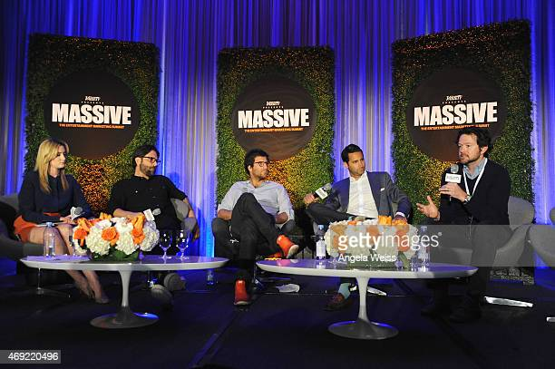 Moderator Elizabeth Wagmeister of Variety Joseph Assad of PMK BNC Thomas Benski of Pulse Films Jonathan Perelman of BuzzFeed Motion Pictures and...