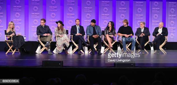 Moderator Ellen K actors Barrett Foa Renee Felice Smith Chris O'Donnell LL Cool J Daniela Ruah and Eric Christian Olsen and executive producers John...