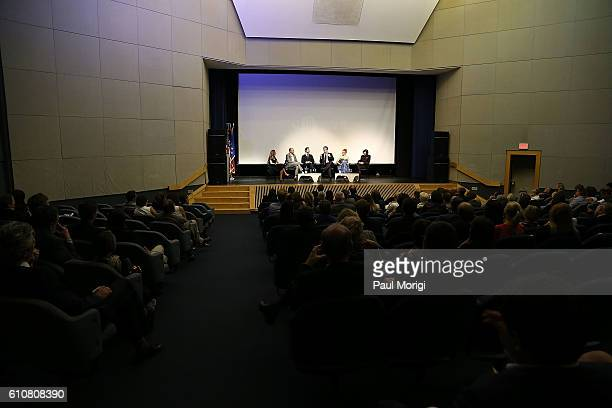 Moderator Elsa Keslassy Cocreator/Executive Producer Simon Mirren actor George Blagden cocreator/executive producer David Wolstencroft actress Noemie...