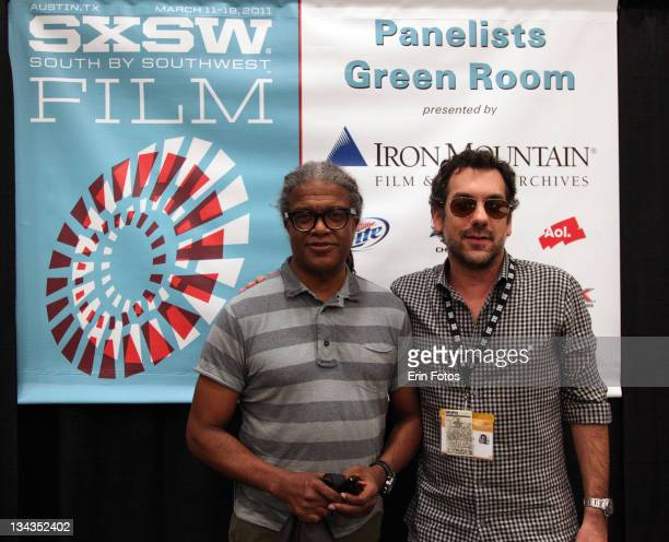 Moderator Elvis Mitchell and director Todd Phillips attend the 2011 SXSW Music Film Interactive Festival Conversation with Todd Phillips at Austin...