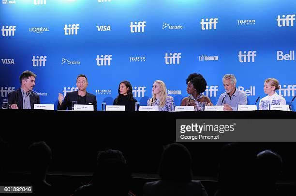 Moderator Eric Kohanik actor/director Ewan McGregor actors Jennifer Connelly Dakota Fanning Uzo Aduba David Strathairn and Valorie Curry speak...
