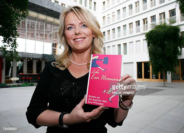 Moderator Eva Herman presents her latest book February 28 2007 in Berlin Germany The book contains reader's letters on her previous book