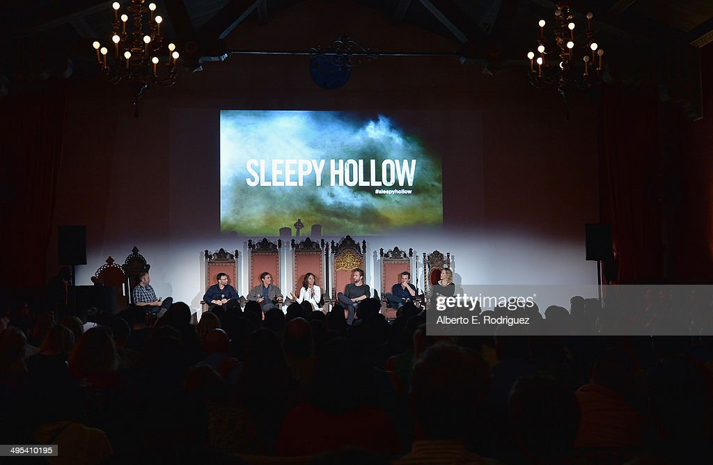 Moderator, executive producers Mark Goffman, Roberto Orci, actress Nicole Beharie, actor Tom Mison, executive producers Len Wiseman and Heather Kadin attend a special screening of Fox's 'Sleepy Hollow' at Hollywood Forever on June 2, 2014 in Hollywood, California.