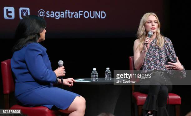 Moderator Jacqueline Cutler speaks with actress Kate Bosworth during the SAGAFTRA Foundation Conversations 'The Long Road Home' at SAGAFTRA...