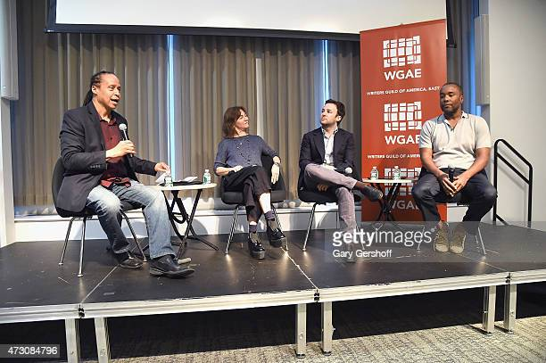 Moderator Jamal Joseph and guest speakers Ilene Chaiken Danny Strong and Lee Daniels attend Writers Guild of America East In Conversation With Empire...