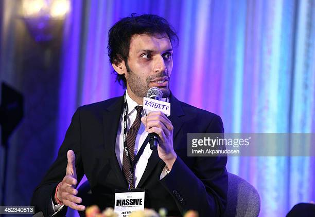 Moderator Jeetendr Sehdev attends Variety's Massive The Advertising And Marketing Summit at the Four Seasons on April 3 2014 in Los Angeles California