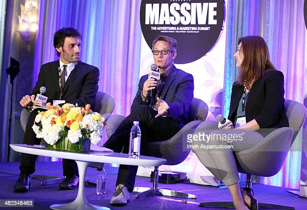 Moderator Jeetendr Sehdev Jim Babcock of Adult Swim and Angie Barrick of Google attend Variety's Massive The Advertising And Marketing Summit at the...