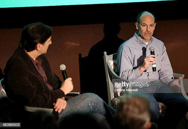 Moderator Jefferson Graham and Stargate Studios president Darren Frankel speak on the Visual Effects for Television pannel during aTVfest presented...