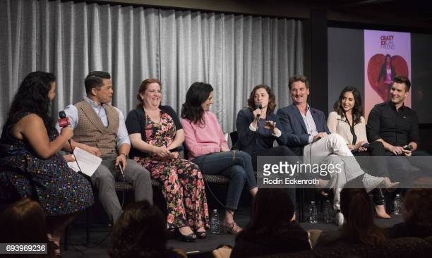 Moderator Jenelle Riley and cast III Vincent Rodriguez Donna Lynne Champlin Aline Brosh McKenna Rachel Bloom Pete Gardner Gabrielle Ruiz and Scott...