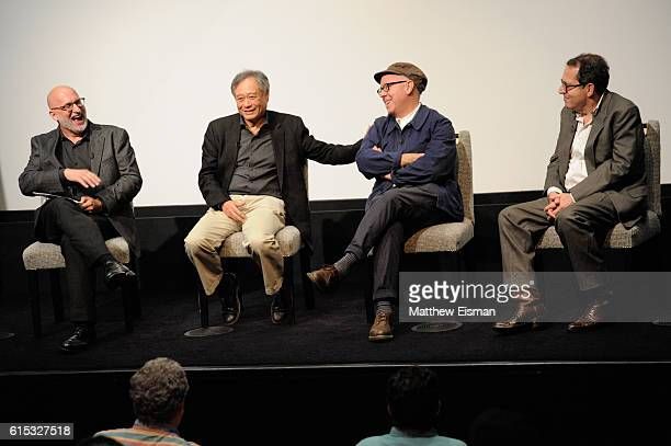 Moderator Joe Neumaier director Ang Lee screenwriter James Schamus and CoPresident and CoFounder of Sony Pictures Classics Michael Barker speak on...
