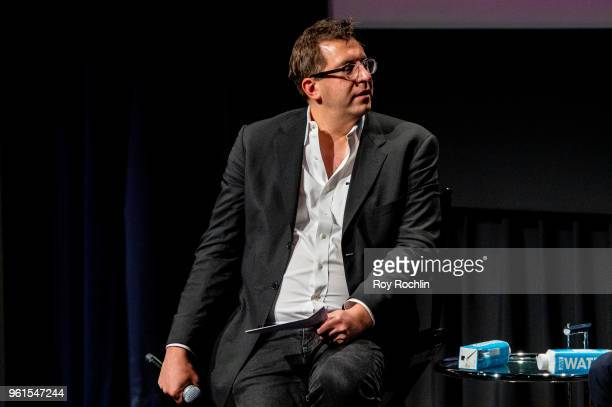 Moderator Joshua Rothkopf during Darren Aronofsky discusses 'The Business' and National Geographic 'One Strange Rock' with the SAGAFTRA Foundation at...
