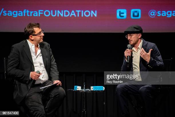 Moderator Joshua Rothkopf with Darren Aronofsky discuss 'The Business' and National Geographic 'One Strange Rock' with the SAGAFTRA Foundation at...