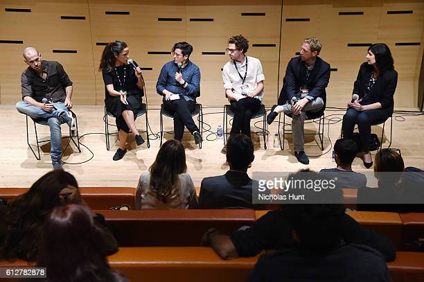 Moderator Jude Dry has Discussion with Directors Nadav Lapid Francisca Alegria Lewie Kloster Matt Tyrnauer and Lisanne Skyler at the 54th New York...